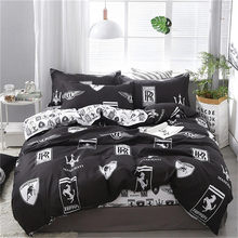4pcs/set High Quality Comfortable Car Logo Printing Family Bedding Set Bed Linings Duvet Cover Bed Sheet Pillowcases(China)