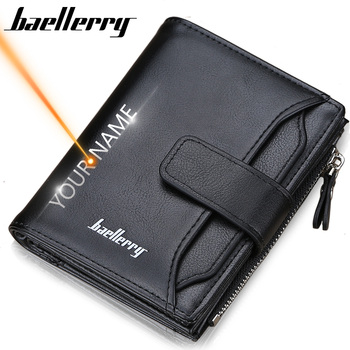 2019 Baellerry Men Wallets Fashion Short Desigh Zipper Card Holder Men Leather Purse Solid Coin Pocket High Quality Male Purse