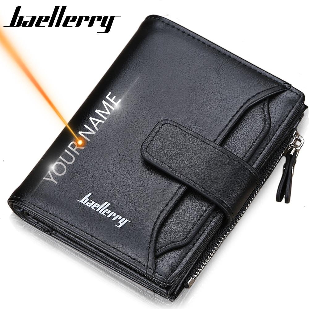 2020 Baellerry Men Wallets Fashion Short Desigh Zipper Card Holder Men Leather Purse Solid Coin Pocket High Quality Male Purse