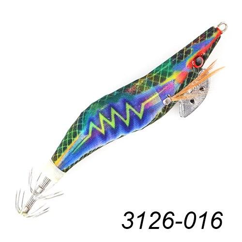 "2 x Tronixpro HTO Fishing Squid Lures Jigs 2.5/"" /& 3.5/"" Hard Baits Green /& Blue"