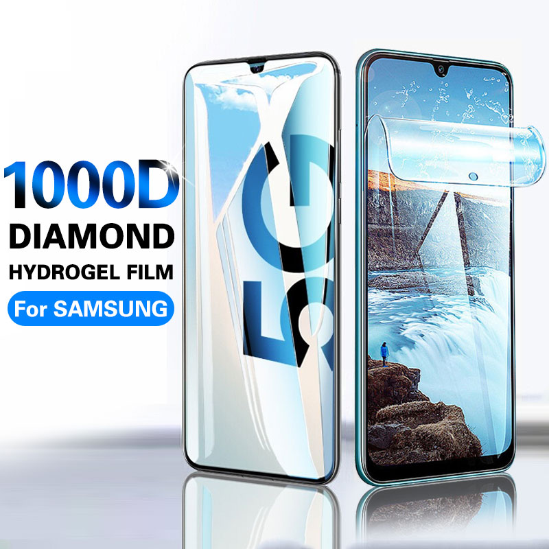 1000D Screen Protector Hydrogel Film On For Samsung A70 A50 S10 S20 Plus Protective Film For Samsung Note 10 Plus S10e No Glass