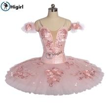 Women Sugar Plum Fairy Professional Ballet Tutu Girls Pink La Sylphide Performance Classical Dance Costumes BT9172
