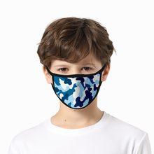 5 pièces enfant enfants masque 3d Camouflage impression respirant filtre coton masque lavable et réutilisable masque Mascarillas