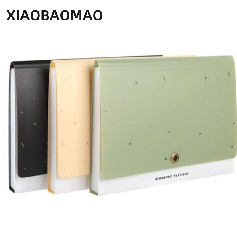 2021 New Waterproof Portable 13 Layer A4 Expanding File Folder Bag Document Subject Classificy Organizer Storage Folder