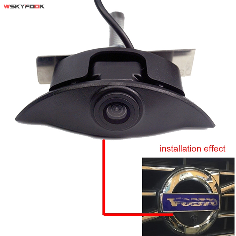 600L CCD Car Vehicle Logo Front View Mark Camera For Volvo Night Vision Waterproof Parking Kits