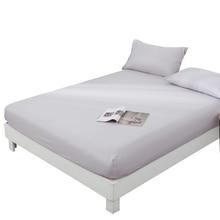 1 Uds. Funda de colchón de cama sólida de poliéster 100% con cuatro esquinas y sábanas elásticas al por mayor