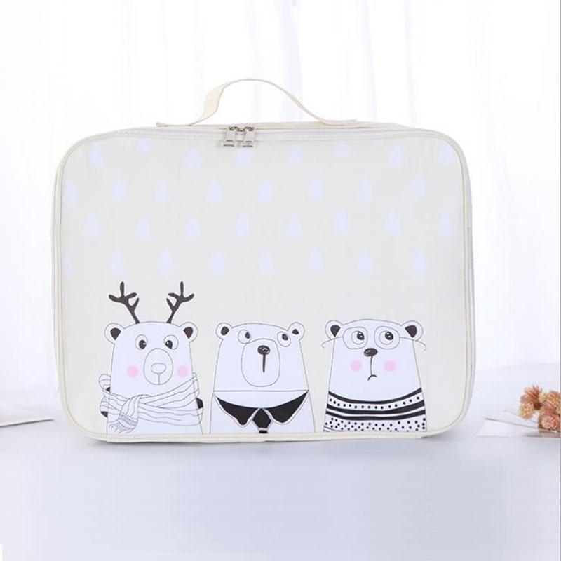 Men And Women Travel Bag Large Capacity Suitcase Anime Bear Trolley Case Storage Bag Waterproof Luggage Bag Family Storage Bag
