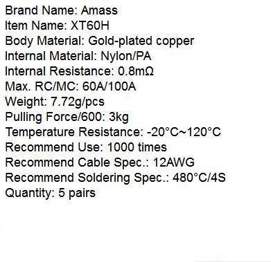 10 шт./5 пар Amass XT60 XT30 XT60H XT30U штекер соединитель Мужской Женский RC Квадрокоптер FPV гоночный Дрон батарея Lipo