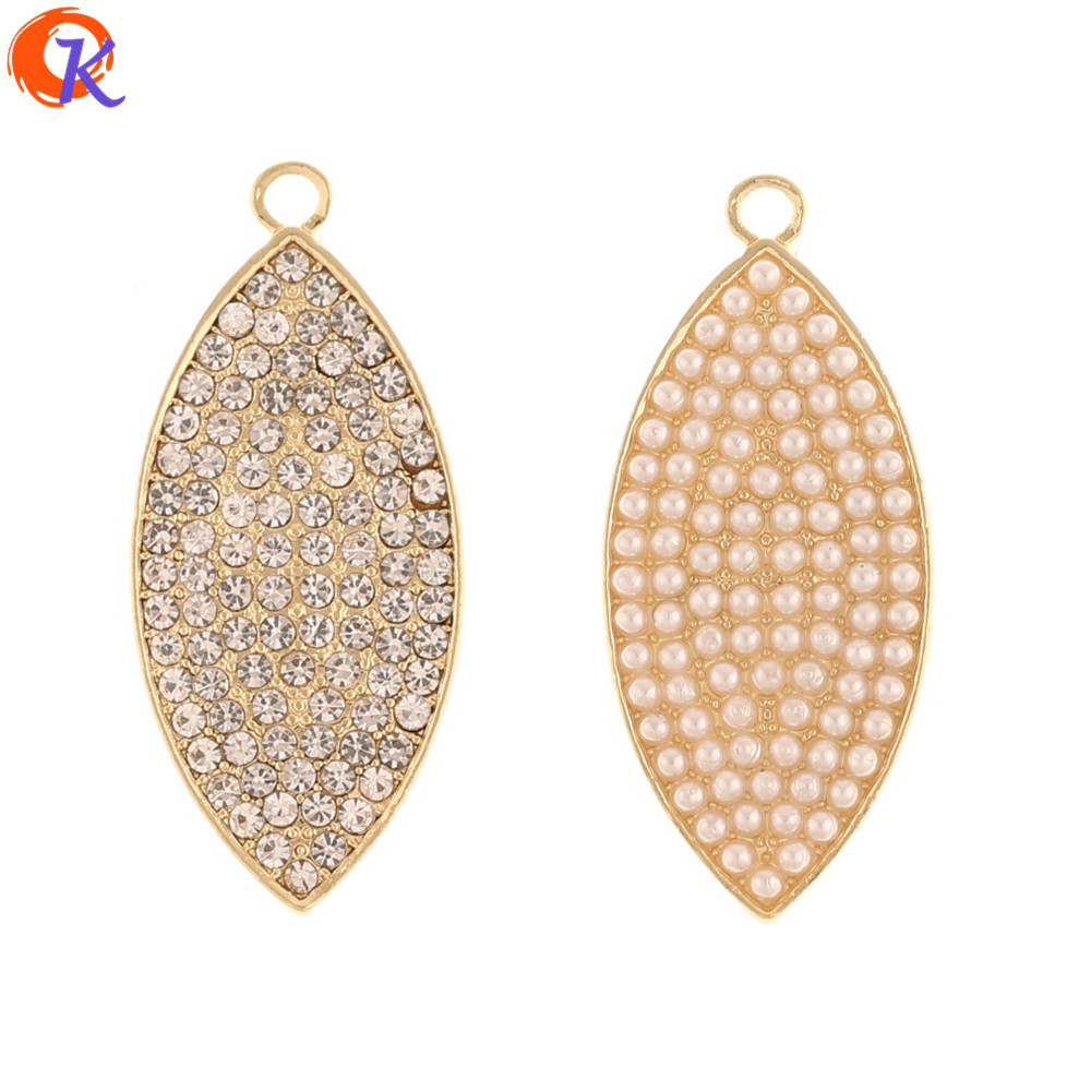Cordial Design 30Pcs 19*33MM Jewelry Accessories/Pendant/Hand Made/Imitation Pearl/Oval Shape/DIY Making/Earring Findings/Charms