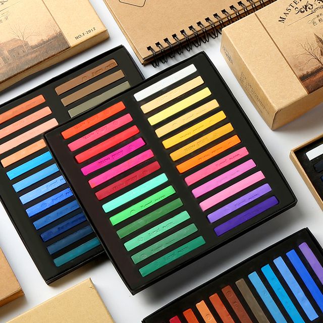 48 Colors Painting Crayons Soft Pastel Art Drawing Set Hair Color Chalk Color Crayon Brush Stationery for Students art Supplies 1