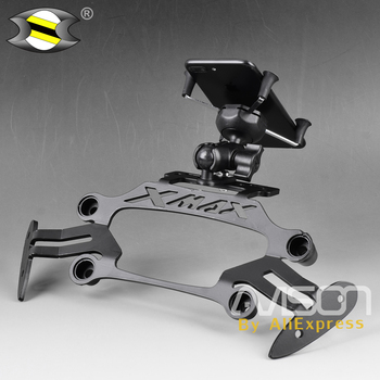 Motorcycle Modified Front Stand Holder Smartphone Mobile Phone Bracket GPS Plate Mirror Bracket  for Yamaha XMAX X-MAX 250 300
