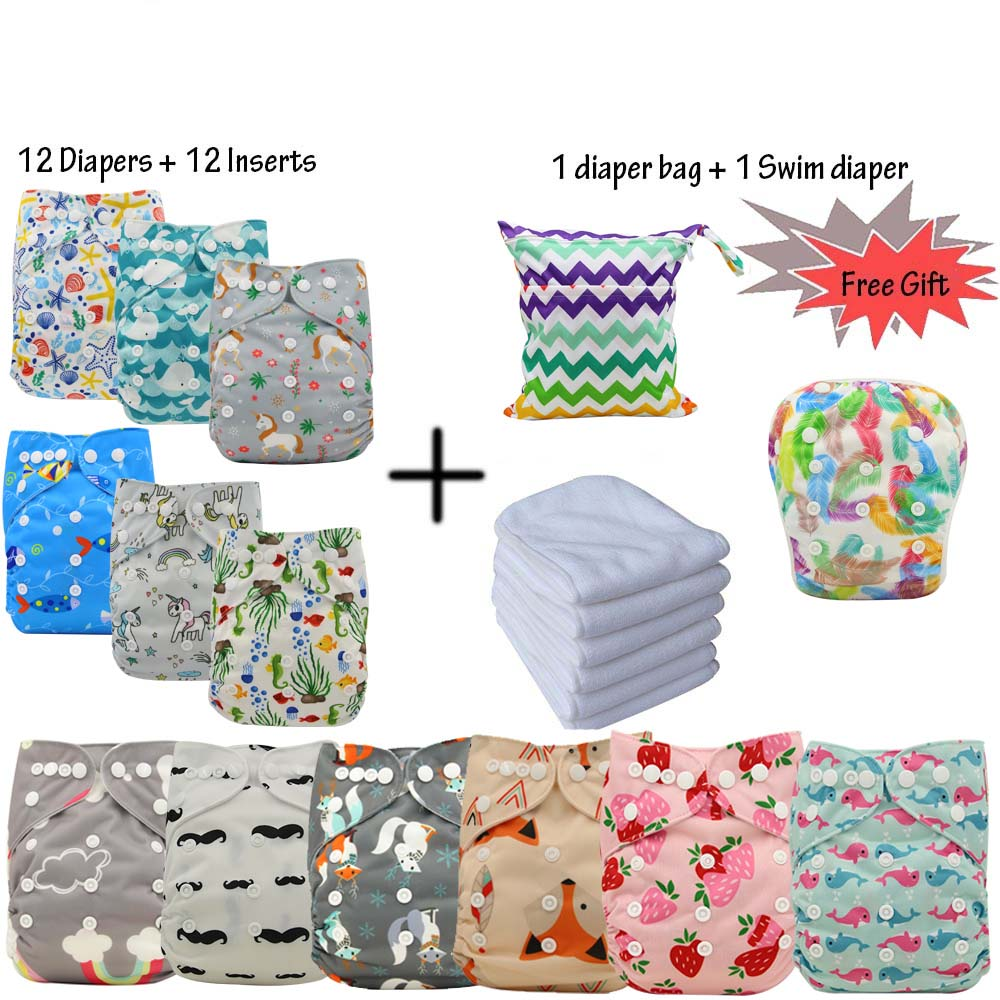 Ohbabyka Reusable Baby Pocket Cloth Diapers Washable Adjustable Nappy Changing Diapers Wholesale Pack For VIP Customers In Stock