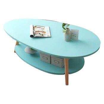 茶テーブルシンプルでモダンなリビングルームのテーブル小さなファミリーラウンドテーブルクリエイティブソファコーナーいくつかの二重小茶テーブル| |   -