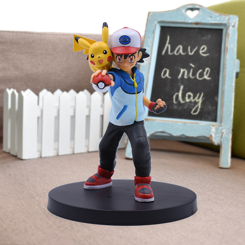 5'' Ash Ketchum Figure Japanese Anime Action Figures PVC Toys Collection Game Figure Figurines Toys Doll Gift
