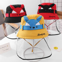 Dustproof Cover Anti-spitting Protective Hat Kids Boys Girls Fisherman Cap Hat Protective cap for outdoor home dropshipping(China)