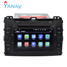 Car radio dvd 2 Din Android stereo receiver FOR LAND CRUISER PRADO 2006-2010 Car GPS navigation multimedia audio video player(China)