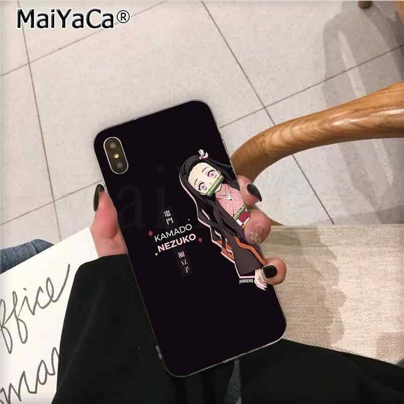 MaiYaCa Anime Demone slayer Kamado Nezuko ragazza Della Copertura Del Telefono per iphone SE 2020 11 pro XS MAX 8 7 6 6S Plus X 5 5S SE XR caso