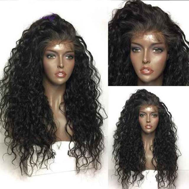Invisible HD Lace Wig Preplucked Water Wave Wig Bleached Knots Black Fake Scalp Remy Women 360 Lace Frontal Transparent Wig 1