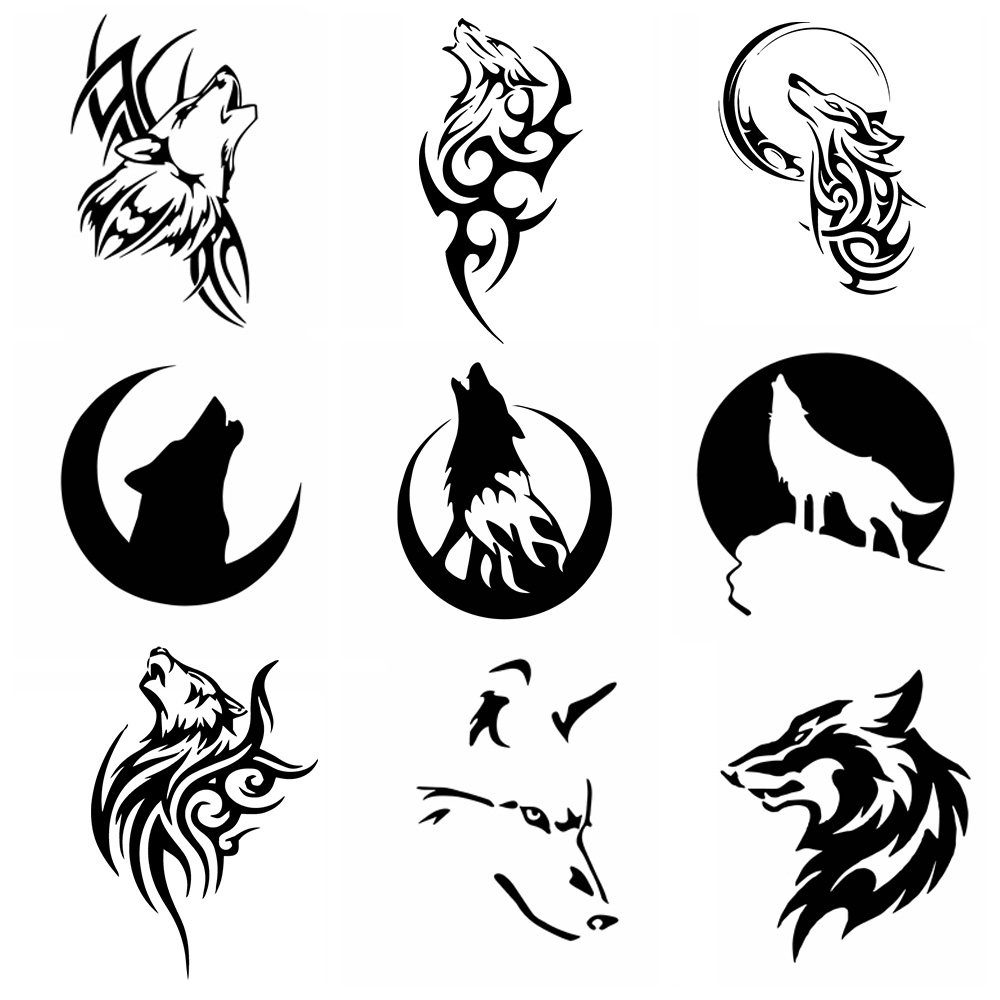 Large size Wolf Car Stickers And car Decals  Waterproof Vinyl Funny Auto carbon fiber sticker Cars Decoration Accessories