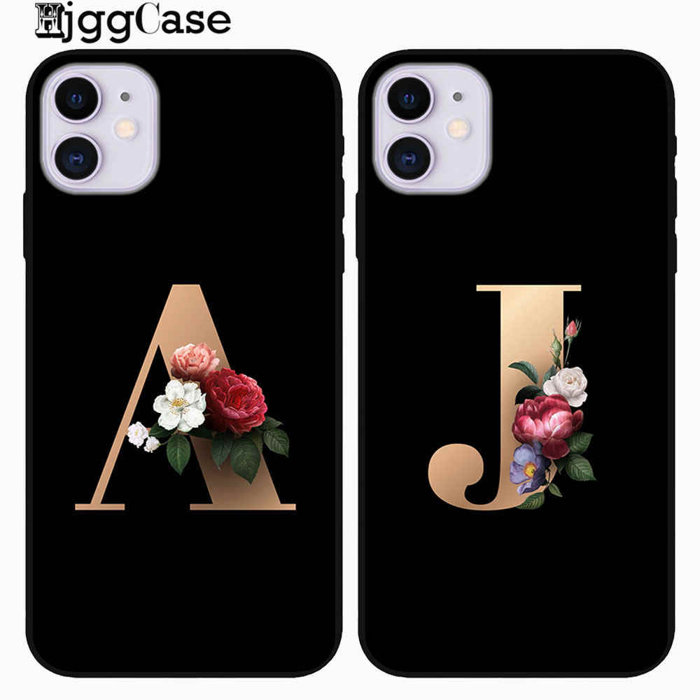 Custom letter For iPhone 11 2019 Case Soft TPU Cover Support Wireless Charging for iPhone 11 Pro Max 5.8inch 6.1inch 6.5inch New