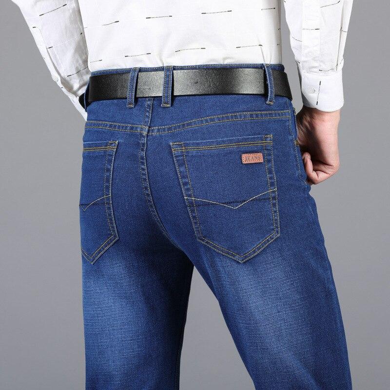 Jeans Men's Loose-Fit Men Cowboy Pants Men's Spring And Autumn New Style MEN'S Jeans Men's Straight-Cut Stretch Trousers