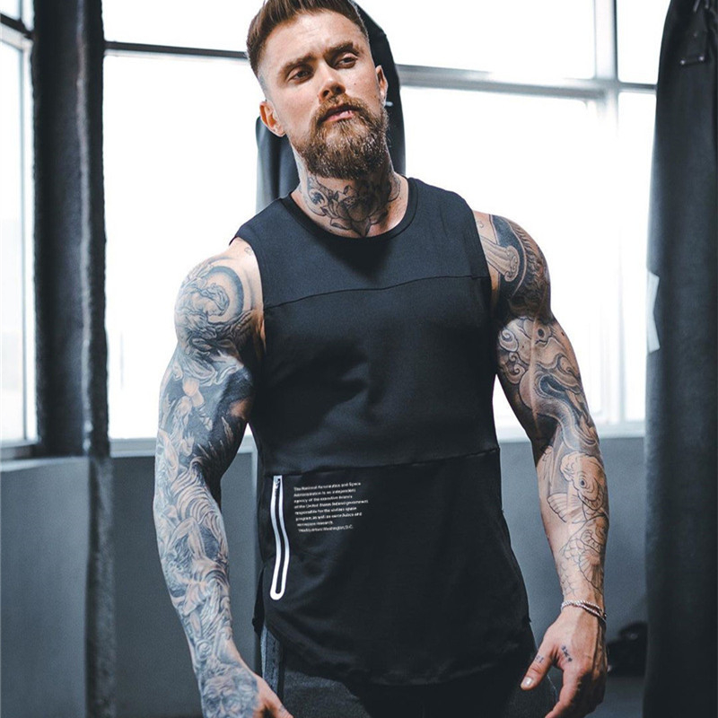 2019 New Men Tank Top Gyms Workout Fitness Bodybuilding Sleeveless Shirt Male Cotton Clothing Casual Singlet Vest Undershirt