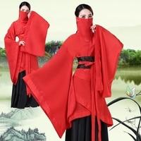 Red Hanfu Costume Chinese Style Ancient Traditional Clothing Cosplay Hanfu Women China Folk Dance Performance Costume DQL1839
