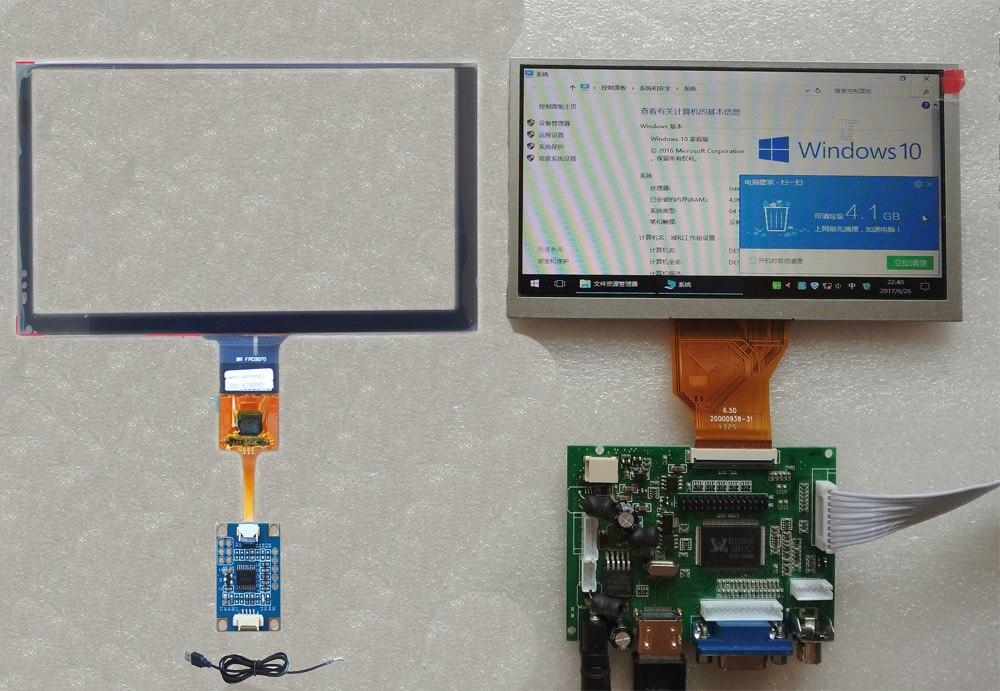 6.5 Inch  LCD HDMI 800*480 Wiht USB Touch Screen Sensor Digitizer Display Kit 155*88mm For DIY CARPC