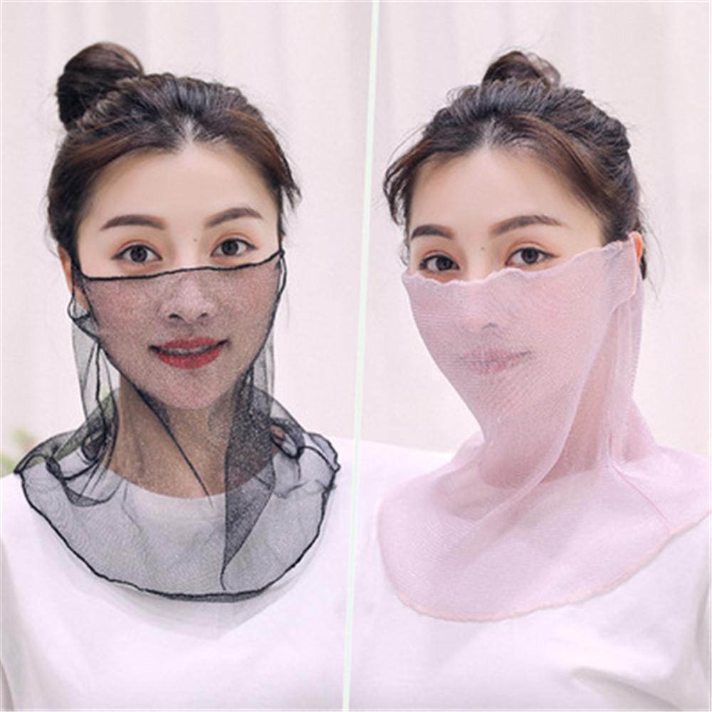 The New Summer Cycling Dustproof And SUNSCREEN MASK NECK Hanging Ear Type Dual-purpose Light And Thin Sun Screen Scarf HXM002
