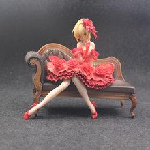 24 CENTIMETRI di trasporto Anime Fate Stay Night Extra Red dress Sexy Girls Saber Nero Claudio Cesare Augusto Germanicus PVC Action Figure giocattoli