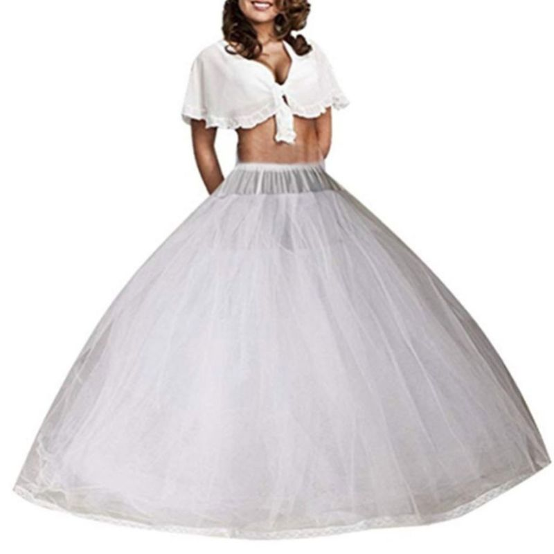Bride Wedding Boneless Dress Skirt Support Petticoat 8-layers Yarn Luxury Big Swing Cosplay Prom Slip Skirts
