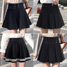 Black skirt women's spring and summer pleated skirt