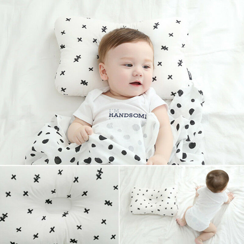 Newborn Baby Pillows Infant Pillow Memory Foam Positioner Prevent Flat Head Anti Roll  /BY