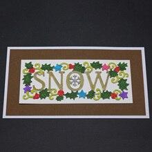 AZSG Snow Cutting Dies for DIY Scrapbooking dies Decoretive Embossing Stencial Decoative Card die cutter