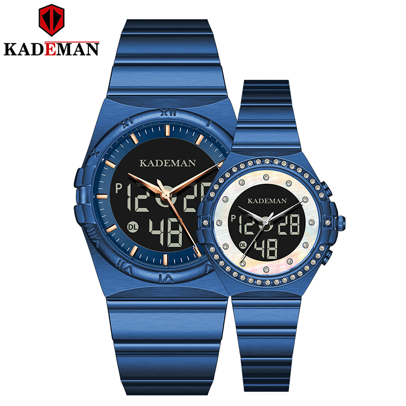 Kademan 2020 New Couple Watch Famous Brand Watch Watches Watch Sapphire Pair Watch Steel Lovers Gift For Birthday Watch K9079