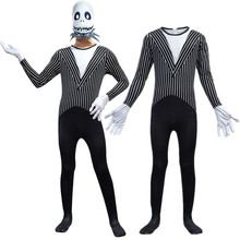 The Nightmare Before Christmas Jack Skellington Cosplay Costume Jumpsuit Zentai Bodysuit Halloween Fancy Dress