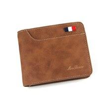 Male Purse Short Men's Wallets Card-Holder Bifold Credit Slim Solid Business Casual