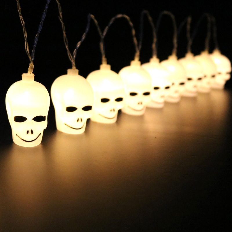 20LED 16.4Ft Skull String Light Lamp For Halloween Party Festival Decoration Christmas Light Wedding Party New Year Holiday Lamp