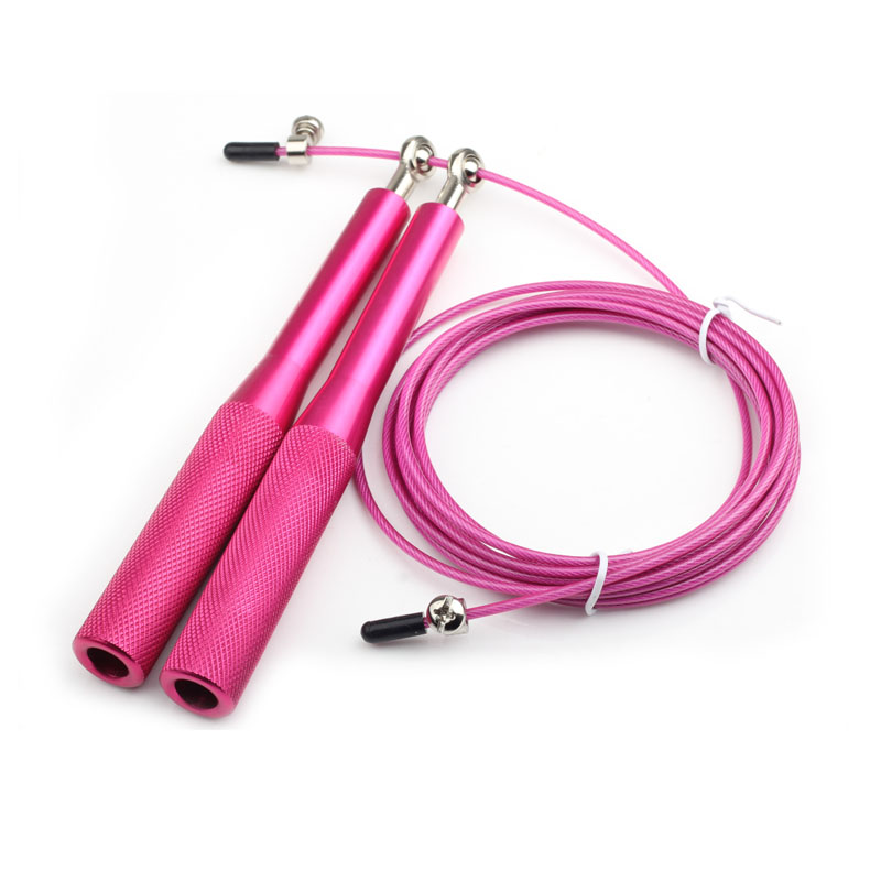 Metal Wire Skipping Rope with Aluminum Handle and Speed Bearings as Fitness Equipment 4