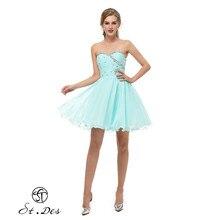 S.T.DES Evening Dress 2020 New Arrival A-line Sweatheart Tiffany Sleeveless Designer Short Party Dress Dinner Dress