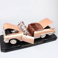 1/18 big scale car classics old 1958 Cadillac Eldorado Biarrotz Fleetwood Diecast Toy Vehicle cars model miniature gift kids boy