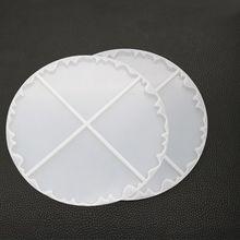 Необычная волна Круглый Coaster силиконовая полимерная форма эпоксидная Создание украшений из каучука