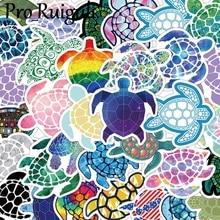 41pcs Sea Turtles Children Scrapbooking Stickers Waterproof PVC Skateboard Guitar Suitcase Funny Graffiti Sticker Kids Classic недорого