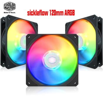 Cooler Master Sickleflow 120mm ARGB Cooling Case Fan PC Computer Radiator CPU Cooler Water Cooling Fan Quiet PWM 12cm 5V RGB