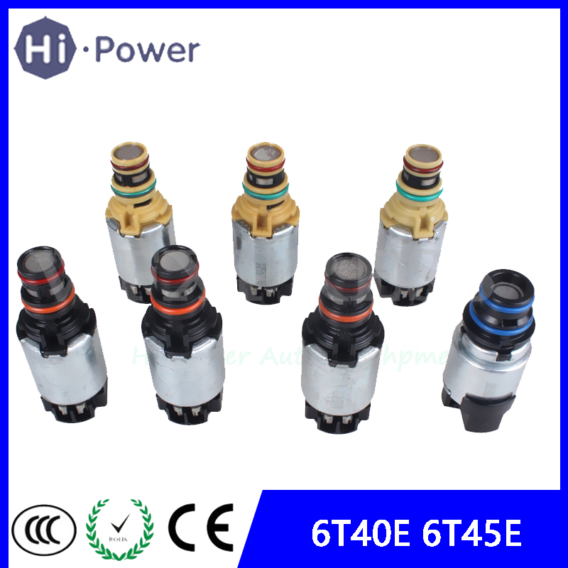 Original 7PCS 6T45E 6T40 Transmission Shift Solenoid For Chevrolet Cruze Epica Lacetti Astra Antara Saab 9'4 OEM