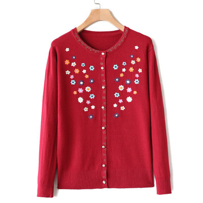 Makuluya Vintage Casual Embroidery O-neck Long-Sleeved Cute Knitted Cardigan Sweater Women Slim Girl Sweet Tops Mori Coats L6