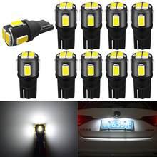 10pcs T10 W5W Led Bulb 194 168 Car Interior Light Parking Lamp For Nissan Note Primera J11 Pathfinder Versa Micra Patrol Sentra