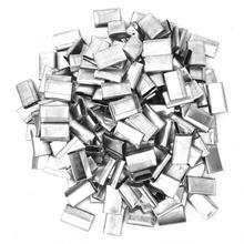 400 шт открытого типа обвязки уплотнения оцинкованное железо для 12-16 мм PP пластиковый ремешок