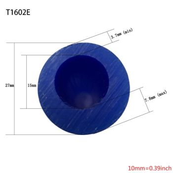 Carving Wax Ring Tube for Making Rings Mold Hard Wax Blank Large Flat Side Tube Blue Color ferris file wax ring tubes men s ring wax tube ring model carving tools jewelry engraver carving material preferred