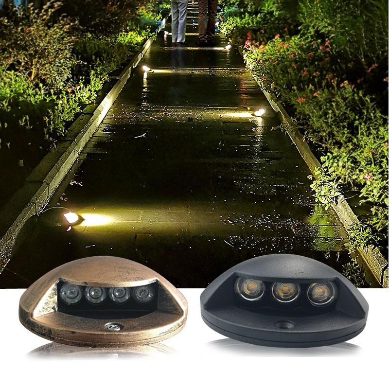 5pcs/lot 3W Waterproof LED Underground Light Outdoor Ground Garden Path Floor Buried Yard Spot Light Landscape
